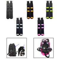 2x Neoprene Shoulder Strap Pad Harness Padded Cushion for Dive Backplate BCD