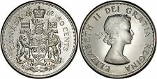 Canada Silver 50 Cents 1962 Prooflike (Lightly Toned)