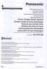Bedienungsanleitung 6-sprachig: Soundbar PANASONIC SC-HTE180