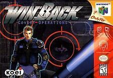 WinBack Covert Operations Nintendo 64 N64 Authentic Video Game Cart Shooter Teen