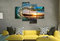 stretched Wave canvas prints seascape water Sunset Split modern art wall ocean