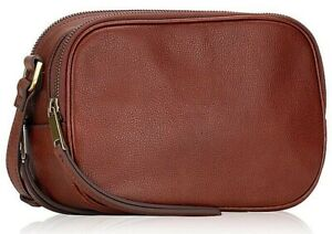 Fossil Maisie Brown Leather Large Oval Crossbody SHB2420213 Brandy NWT $158 FS
