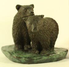 Phil Vanderlei Cast Bronze Art Metal Two Bears Sculpture Figurine Signed #28/300