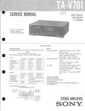 Sony Original Service Manual per ta-v701