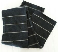 "Gap 100% Lambswool Scarf Gray Stripe 10.5"" Wide"
