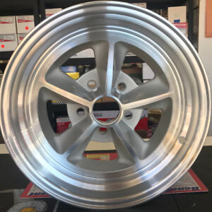 15 x 7 Legendary Mustang Shelby Alloy Wheel, 5 on 4.5 BP, 4.25 BS, Natural Set