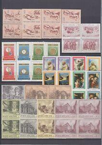 Vatikan Jahrgang 1976, komplette postfrische 4er Block Sammlung **