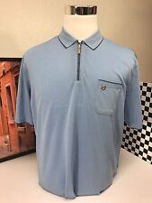 Stefano Ricci Shirt Polo Sky Blue Solid Design Summer Cotton Size 58