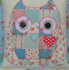 Sewing pattern instructions sew applique patchwork bird Owl Cushion free post