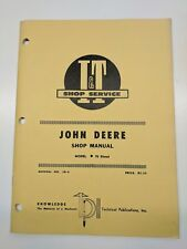 John Deere Shop Service Manual I&T Series Model tractor 70 diesel jd-8 repair