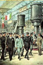 WW2 - Le roi d'Italie Victor-Emmanuel III visite la foire de Milan en 1942