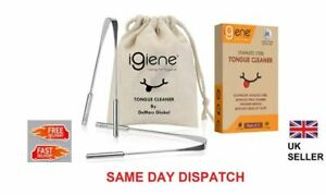 igiene - 2 x Tongue Scraper Cleaner | Surgical Grade Stainless Steel | Oralcare