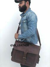 Vintage Men's Large Compartment Leather Handbag Shoulder Bag Satchel Messenger