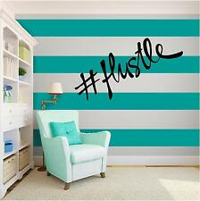 HASHTAG HUSTLE Vinyl Wall Art quote Home Family Decor Decal Word & Phrase BLACK