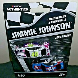 NASCAR AUTHENTICS 2020 1/87 #48 JIMMIE JOHNSON ALLY/7 TIME BLACK/BLUE SET WAVE 2