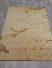 INDIAN,HAND TUFTED, MODERN 100% WOOL RUG, BEIGE,LIGHT BROWN,CAMEL, 2.44 x 1.52M