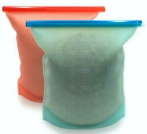 Silicone Reusable Food Storage Bags-NEW_(XL)_4000ML_Capacity_With ZIPLOCK SEAL