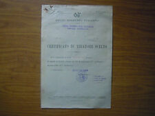 REGIO ESERCITO ITALIANO CARABINIERI REALI CERTIFICATO TIRATORE SCELTO 1932