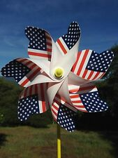 United States National Flag Windmill Spinner - Whirligig Decoration