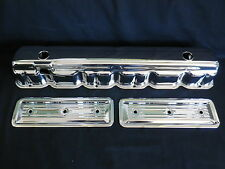 VALVE COVER CHROME 3 1/2 TALL CHEV STRAIGHT 6  194-230-250-292 INC 2 SIDE COVER