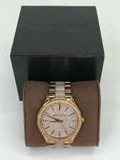 Michael Kors Women's Crystal Pave Gold Stainless Steel Watch MK4288 & Box