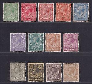 Great Britain SG 351//395 Scott 159//172 1912 KGV Simple Cypher Issue CV £154