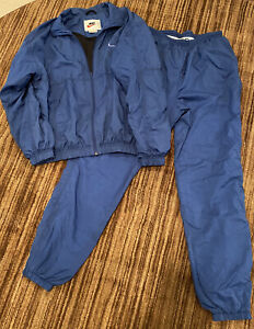 Vintage Nike Womens Tracksuit Jacket And Pants Size L 12/14 Nylon Lined
