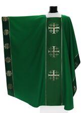 Green Monastic Chasuble Kasel Messgewand Vestment Casula MX009-Z us