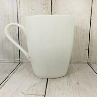 "Roscher Bone China Coffee Mug White Smooth Elegant Porcelain Tea 4"" Tall"