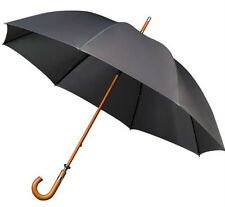 Mens Golf Umbrella with Wooden shaft & Crook Handle - Big Windproof Canopy 130cm