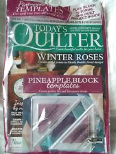 2 & 3 Lot Quilting Magazines And Pineapple Block Templates Unopened - All New!