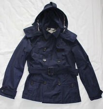 Burberry Brit Women's Ladies Navy Coat Jacket Size UK 10 Good Used Condition
