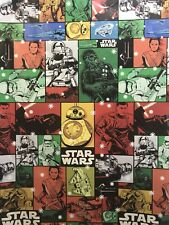 Disney STAR WARS Colorful Collage Christmas Gift Wrapping Paper 70 sq ft Roll