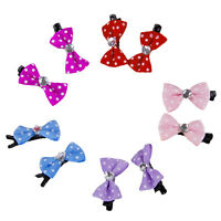 10pcs Colorful Grooming Accessories Cat Dog Hair Bows Hair Clips Beauty Pet