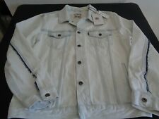 LEVIS Mens MADE & CRAFTED White Blue 67485 Trucker LARGE Jacket NEW Free Ship