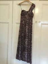 Wayne Cooper Off Shoulder Long Maxi Dress Size 10 Formal Cocktails Evening Party