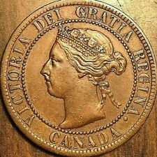 1895 CANADA LARGE CENT PENNY COIN 1 CENT - Excellent example!