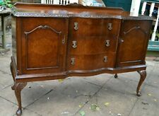 More details for walnut vintage queen anne style sideboard