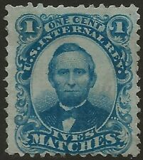 RO 116c--IVES MATCHES 1 CENT  MATCH AND MEDICINE STAMP--58