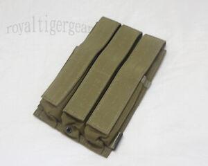 FLYYE Triple 9mm Ammo Machine MAG Sub Magazine Gun SIG MP5 MPX MOLLE Pouch