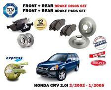 FOR HONDA CRV 2.0 2002-2005 FRONT & REAR BRAKE DISCS SET + DISC PADS KIT