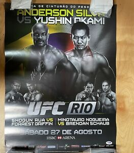 Official UFC 134 Rio, Signed By Anderson Silva, Pride Fc, One Fc - PSADNA