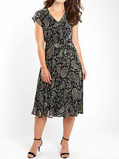 Joe Browns Black Tea for Two Paisley Print Dress - Plus Size 16 to 30 24