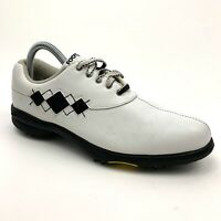 FootJoy Extra Comfort White Golf Lace Up Shoes Spikes 98522 Women's Size 8 M