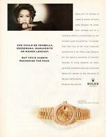 1998 Original Advertising' Rolex Watch Datejust Gold Cronometer Kiri Te Kanawa