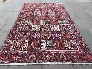 Vintage Hand Made Traditional Rug Oriental Wool Red Large Rug Carpet 307x203cm