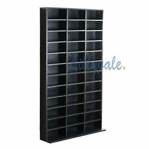 Black Storage Shelf Rack Unit Bookcase Video Games 1116 CD/528 DVD