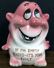 Vintage Ceramic Piggy Bank Kreiss Psycho - If I am Empty Headed-It's Your Fault