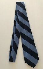 Rugby Ralph Lauren Repp Tie Navy & Blue Stripe 100% Silk Hand Made in Italy