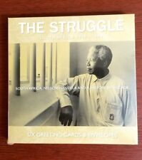 Nelson Mandela Pack of 6 Greeting Cards & Envelopes / The Struggle - 1948-1994